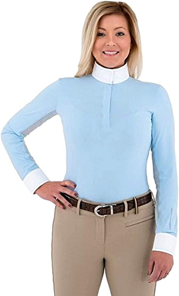 Noble Outfitters Women's Allison Pullon X Blue Show Shirt Powder New mail Max 65% OFF order