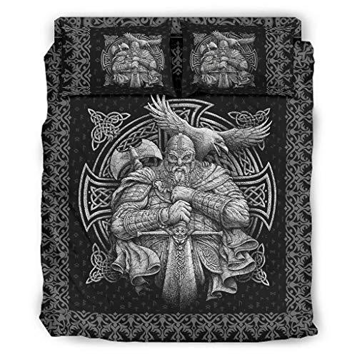 WellWellWell Viking Odin - Juego de cama de 4 piezas de 4...