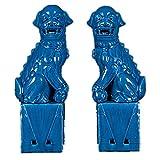 Par de Leones de Beijing Estatuas de Perros Fu Foo (Un par),...