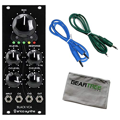 Best Buy! Erica Fusion VCA V2 Eurorack Synth Module Bundle w/ 2 Cables and Cloth
