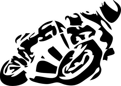 Motorrad Auto Aufkleber 12x8 cm (Schwarz) Original Patentiertem Beschriftungsspezi