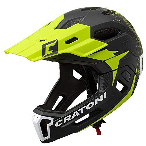 Cratoni, C-Maniac 2.0MX, casco da bicicletta MTB, colore: nero/nime opaco, nero-verde, S/M (52-56 cm)