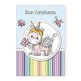 Biglietto Auguri Compleanno Unicorno...