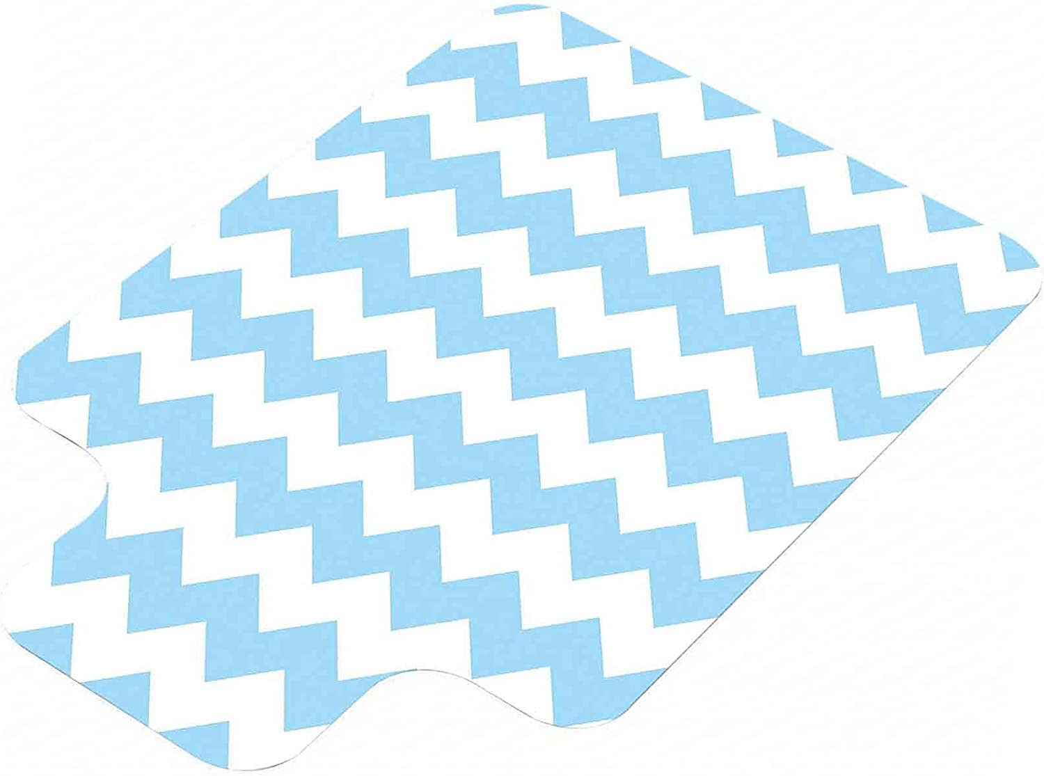 Light Blue Hard Floor Chair Mat Fashioned Z Mail order Classic Old Chevron New products, world's highest quality popular!