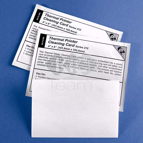 Thermal Printer Cleaning Card 4�x6� - 101.6mm x 152.4mm Series 212 (3 Layer)