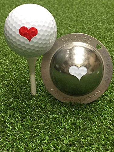 Tin Cup Kiss Me Golf Ball Custom Marker Alignment Tool