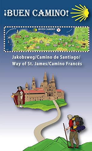 """Erlebnisposter """"Buen Camino"""" Infomappe mit gefalzter Karte"""