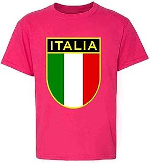 Italy Soccer National Team Retro Crest Toddler Kids Girl Boy T-Shirt