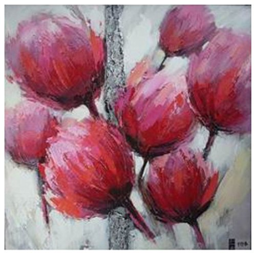 Mendola Art da 218eopi977b Dipinto a Mano Rose Tulip B, 30x 30cm