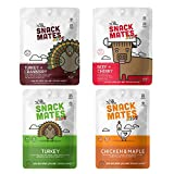 Snack Mates by The New Primal - Bites & MINI Meat Sticks Variety Pack - High Protein and Low Sugar Kids Snack, Certified Gluten-Free, Certified Paleo, Snacking On-The-Go (4 Pack)