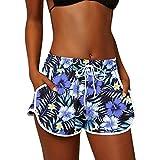 Mameluco para mujer, para G y mujer, pantalones cortos de playa con bolsillos, para verano, vacaciones de verano