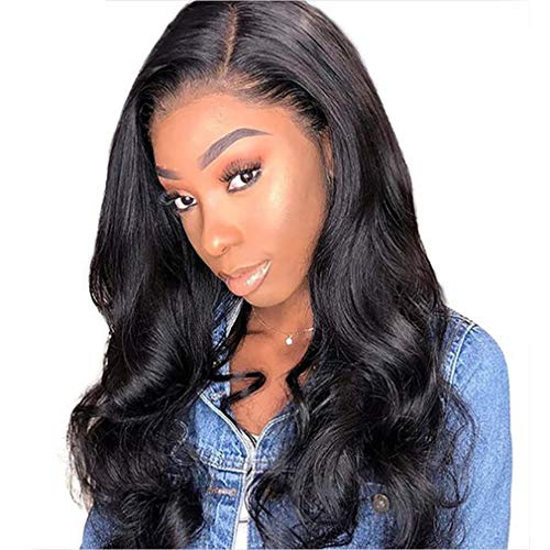 360 Lace Wig Body Wave Wig Human Hair Perücken 360 Lace Frontal Wig Unbehandeltes Brasilianisches Haar Perücken 130% Dichte Lange Bleached Knots Free Part with Baby Hair 26 zoll NIUDINNG Human Hair