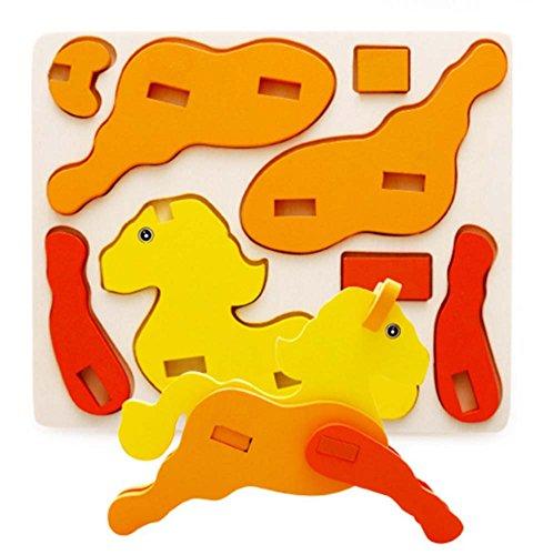 Cheval de Bois désassemblage Puzzle Dimensional (3-6 ans)