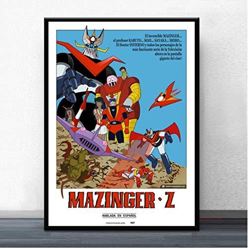Newgeli Póster Mazinger Z Infinity Película Japonesa Manga Anime Lienzo Pintura Carteles E Impresiones Cuadros De Pared 50 * 70Cm Sin Marco