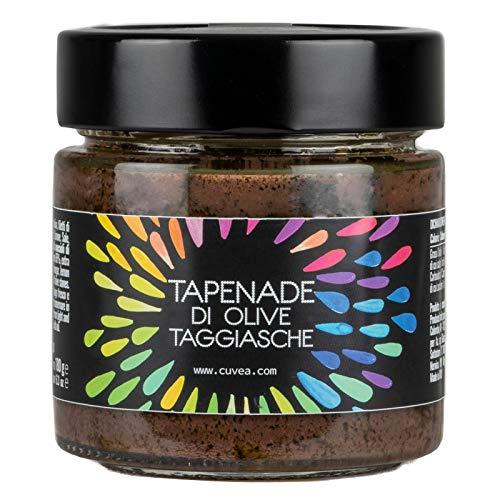 Cuvea - Tapenade mit taggiasca oliven 180 g - Olivenpaste, Handwerksprodukt, französisches Rezept ohne Konservierungsstoffe ohne Farbstoffe