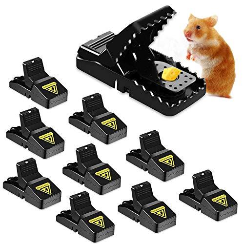 TWBEST Trampas para Ratones, 10pcsTramps Ratón de Reutilizable, Rat Trap para Interiores y Exteriores, Alta sensibilidad Ratoneras Trampa, Respuesta Rápida Seguro Efectivo