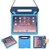 Pure Sense Cases BUDDY 抗菌 ケース 【 iPad Pro 11 2018 】 ショルダーストラップ 耐衝撃 子供 軽量 ハンドル スタンド (ブルー)*2018年モデル以外へ使用不可