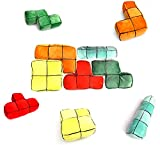 5er Set Tetris 3D Plüsch Kissen - Der Computerspiel-Klassiker zum kuscheln als Sofakissen