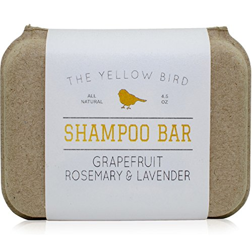 Solid Bar Shampoo Soap. Grapefruit, Rosemary, and Lavender. Mild Natural and Organic Ingredients. Sulfate Free. Gentle Scalp + Hair Care