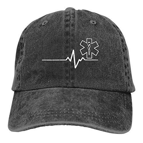 Skiroromg Paramedic Heartbeat Thin White Line Gorra de béisbol Ajustable de algodón Unisex Gorra de Camionero Gorra de Mezclilla Gorra de Casquette Baseball Caps