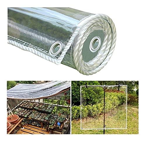 Lona transparente para plantas de jardín antivaho, cortina impermeable con ojales, cubierta protectora a prueba de viento para acampar, barco de pesca