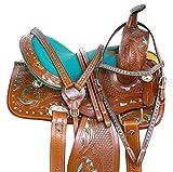Acerugs Premium Barrel Racing Western Leather Pony Horse Saddle...