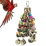 【Ideal Toy for Birds】The height of the parrot chew toy is 14.6 inches (37cm). It is designed for budgies, african greys, conures, parakeets, cockatiels, macaws, finch, various small medium and large birds, providing your bird an ideal place to chew a...