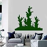 HGFDHG Cactus Tatuajes de Pared Plantas del Desierto Decoraciones para el hogar Sala de Estar Estudio Puertas y Ventanas de la Oficina Pegatinas de Vinilo Papel Tapiz Creativo