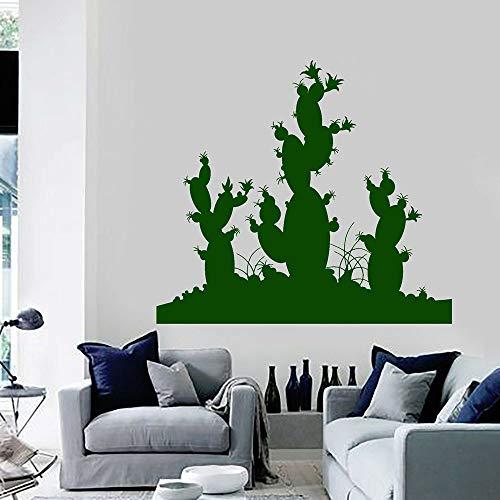 Cactus tatuajes de pared plantas del desierto decoraciones para el hogar sala de estar estudio puertas y ventanas de la oficina pegatinas de vinilo papel tapiz creativo