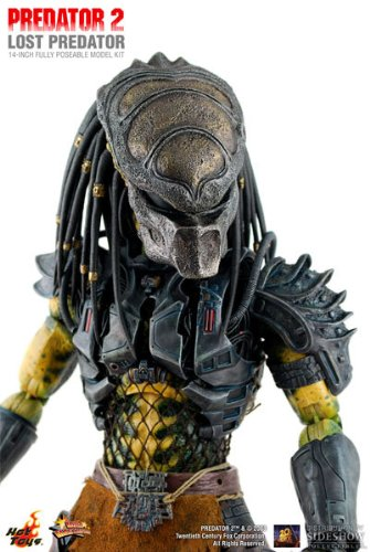 Predator 2 Sideshow Collectibles Hot Toys 14 Inch Movie Masterpiece Lost Predator