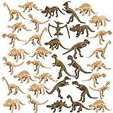 36 piezas de dinosaurio esqueleto fósil de dinosaurio esqueleto de dinosaurio, diferentes figuras de dinosaurios huesos para Dino Sand Dig ciencia juegos decoración