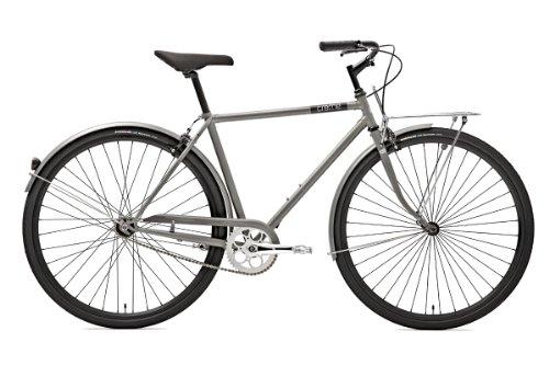 Creme Herren Citybike Caferacer Solo, 3 Gang, silver, Rahmenhöhe: 55 centimeters, Reifengröße: 28 Zoll (74 cm), BI-CRE-2104_16_55