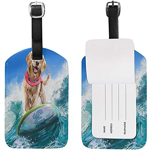 Retriever Watercolor Dog Luggage Tags Travel Id Bag Tag for Suitcase 1 Piece