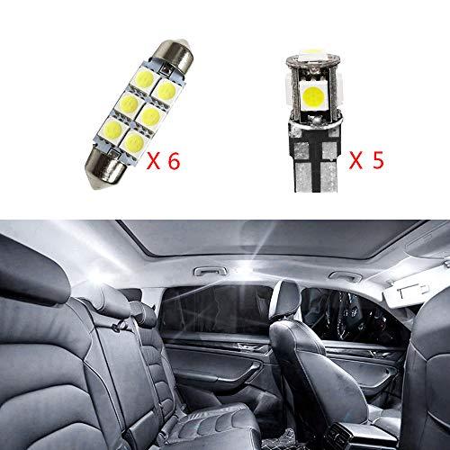 per Sharan 2012-2017 Super Luminoso Sorgente luci Interne a LED Lampada per Auto abitacolo Lampadine di Ricambio Bianca Confezione da 11