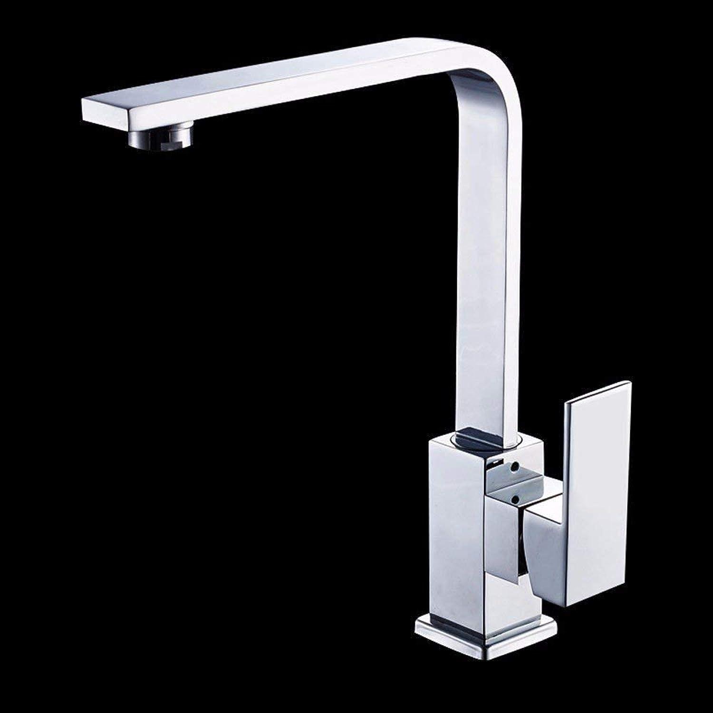 Oudan Mischer-Wasserhahnkupfer Einfache Artküchenbadezimmer Rotierend Hei und kalt schwarz
