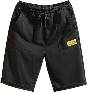 IHGTZS Pants for Men, Men's Pure Color Splicing Cotton Multi-Pocket Overalls Shorts Fashion Pant