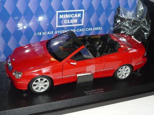 Kyosho Mercedes-Benz CLK Cabrio Rot Mit Soft Top A209 2002-2010 1/18 Modellauto Modell Auto