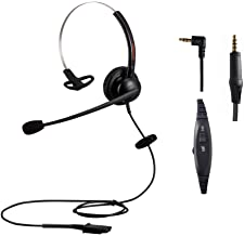 $32 » Monaural Wired Call Center Telephone Headset with 2.5mm Jack for Cisco SPA Series Office Landline Phone Headset with Noise...