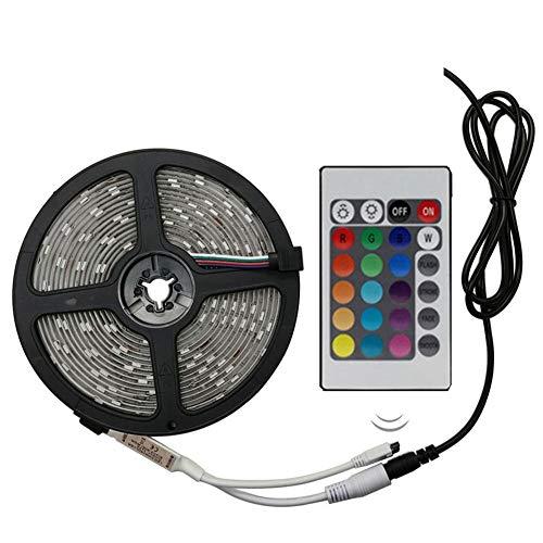 RGB LED-strip SMD 2835 RGB LED-strip strepen strepen strepen band DC 12V afstandsbediening + adapter Impermeabile 5m