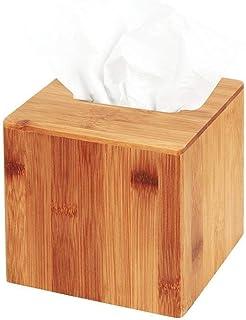 JackCubeDesign Bamboo Square Tissue Box Cover Holder Case Kleenex Cover Holder Box Napkin Holder Organizer Stand(Set of 1,...