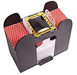 Silly Goose Games Automatic Card Shuffler, Card Shuffler 2,4 or 6 Deck Electric Battery Operated for Poker, Blackjack