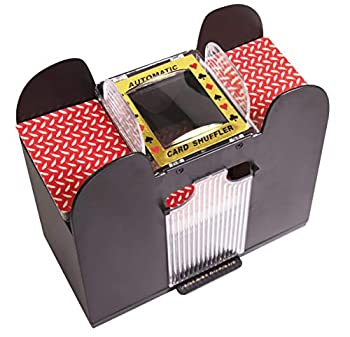 Silly Goose Games Automatic Card Shuffler Card Shuffler 2,4 or 6 Deck Electric Battery Operated for Poker Blackjack