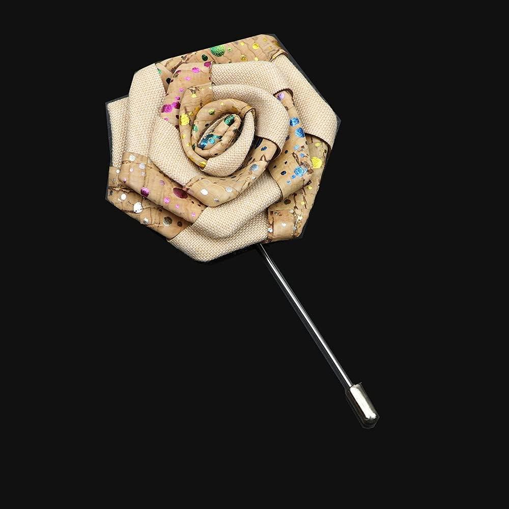 GYZX Cork Wood Floral Brooch Award-winning store Men Max 63% OFF Lapel Pin B Jewelry Badge Women