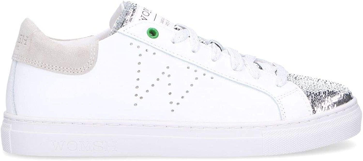 WOMSH Women's S180219 White Leather Sneakers