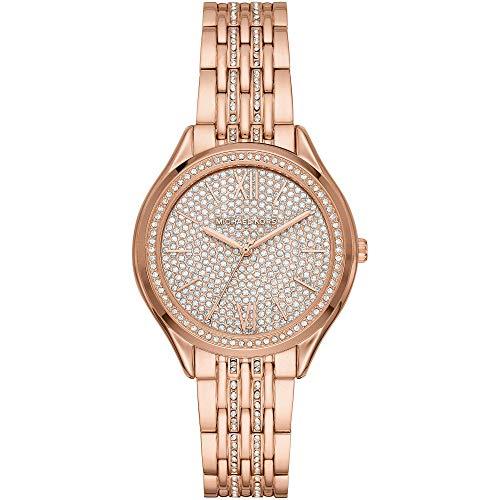 Michael Kors Mindy - Reloj con pavé de Brillo Dorado Rosa para Mujer - MK7085