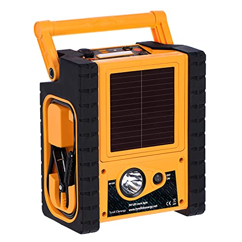 Car Jump Starter with Air Compressor,Solar Panel Power Station with Inverter,Double AC Plug 400W,5V/3.1A USB Ports,Multi-Function Jump Starter,Jump Box for Gas/Diesel Vehicles,Outdoors&Emergency