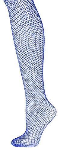 Das Kostümland Netzstrumpfhose XL für Herren - Blau