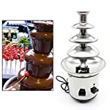 4 Tiers Commercial Stainless Steel Chocolate Fondue Fountain 170W 1kg Capacity