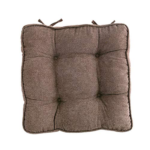 LQ&XL Soft Comfortable Tufted Seat Cushions,Outdoor Indoor Wicker Seat Cushions,Perfect Tufted Pillow 18x18 Inch Multicolor-Curry Color 45x45cm(18x18inch)