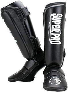 Super Pro Combat Gear Schienbeinschützer Protector Schwarz/Weiß-XL